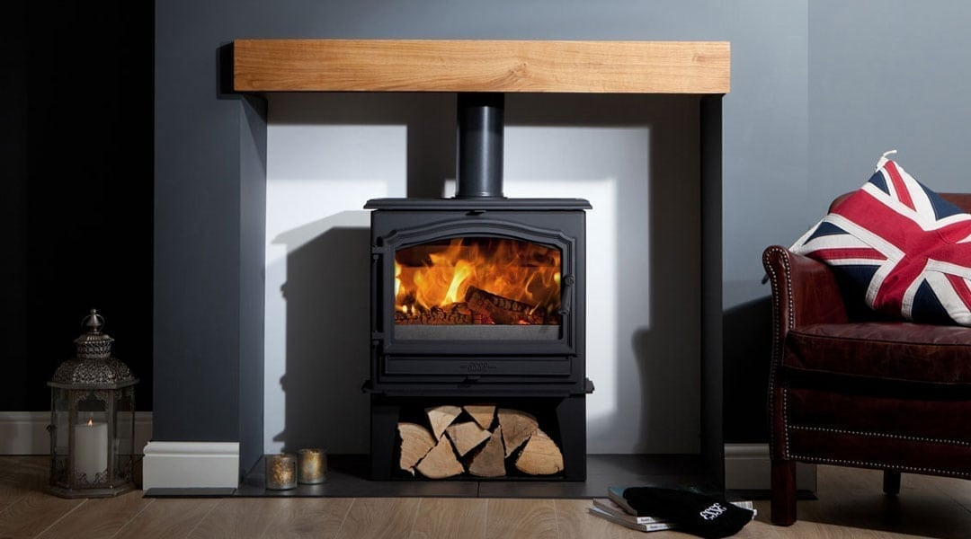 ESSE 100 stove with log stove